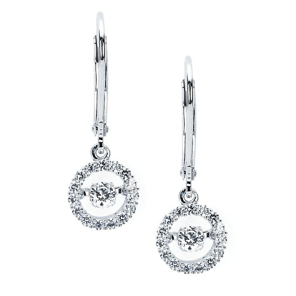 14k White Gold Earrings by Shimmering Diamonds
