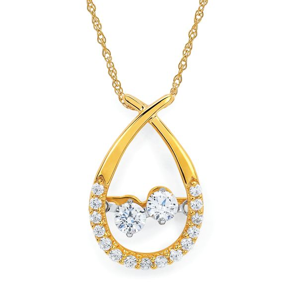 14k Yellow Gold Pendant by Shimmering Diamonds