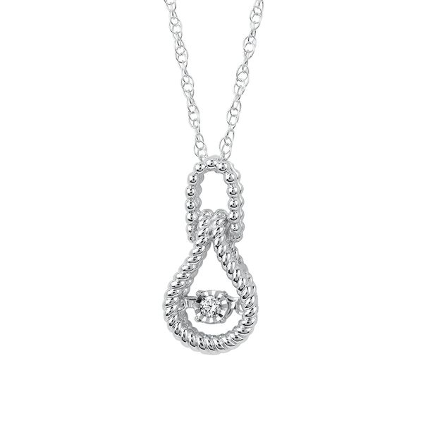 Sterling Silver Pendant - Shimmering Diamonds® Love Knot Pendant in Sterling Silver with .03 Ctw. with 18
