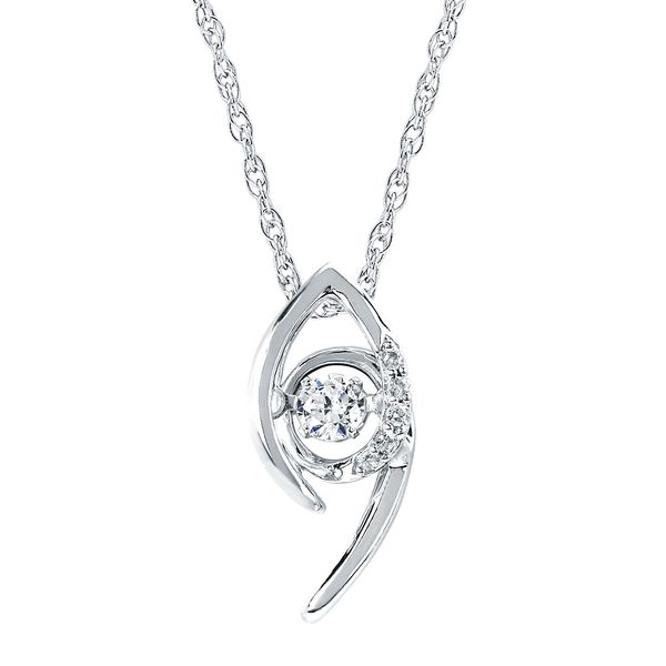 Sterling Silver Pendant - Shimmering Diamonds® Pendant in Sterling Silver with 1/10 Ctw. Diamonds and 18