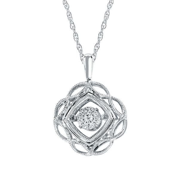 Sterling Silver Pendant - Shimmering Diamonds® Pendant in Sterling Silver with .08 Ctw. Diamonds and 18
