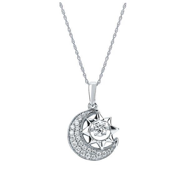 14k White Gold Pendant - Shimmering Diamonds® Radiant Universe® Pendant in 14KT Gold with 1/3 Ctw. Diamonds and 18