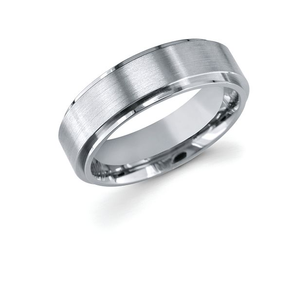 Titanium Wedding Band - 7mm Titanium Band with Raised Center