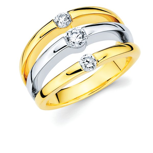 14K Yellow & White Gold Ring by Ostbye