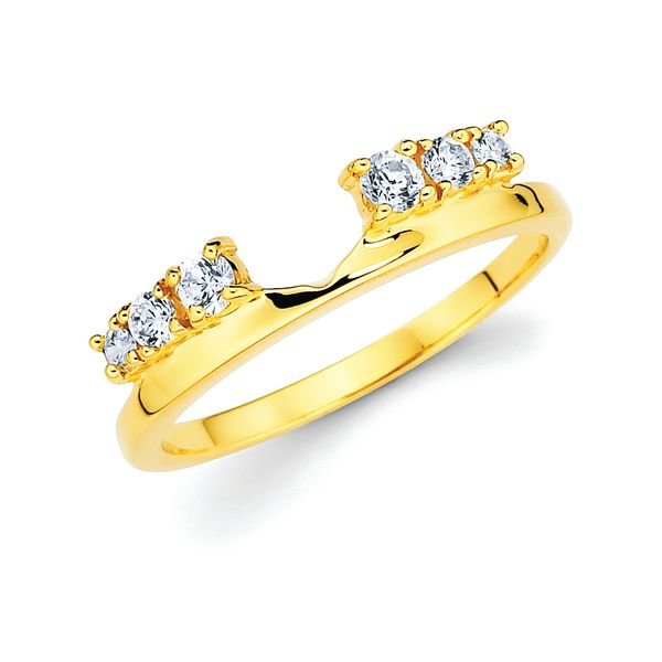 14K Yellow Gold Wrap Ring - 1/4 Ctw. Diamond Wrap in 14K Gold