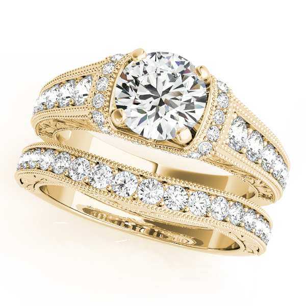 Engagement Rings - 14K Yellow Gold Antique Engagement Ring - image #3
