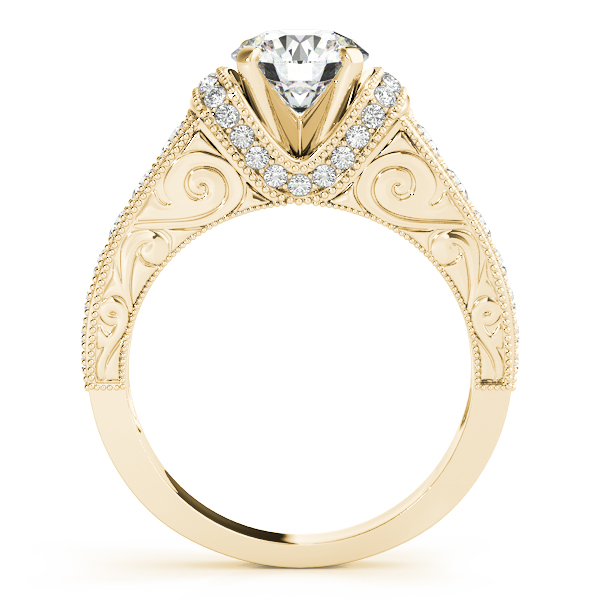 Engagement Rings - 14K Yellow Gold Antique Engagement Ring - image #2