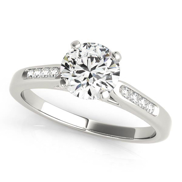 Engagement Rings - Platinum Single Row Channel Engagement Ring