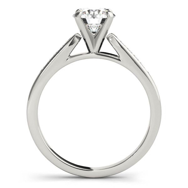 Engagement Rings - Platinum Single Row Channel Engagement Ring - image #2