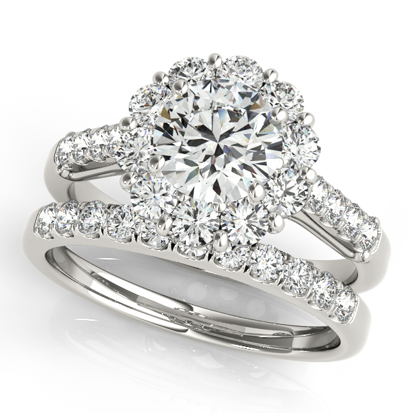 Choose from wide variety of unique halo engagement & bridal rings in different shapes and sizes. Whether you would - image #3