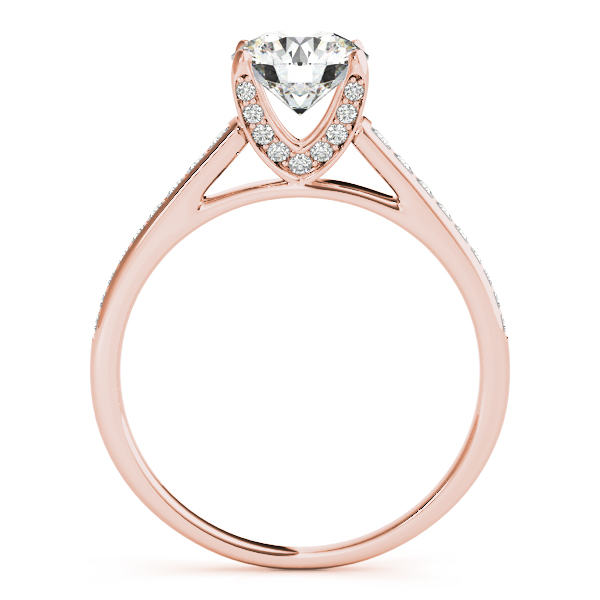 Engagement Rings - 10K Rose Gold Single Row Prong Engagement Ring - image #2