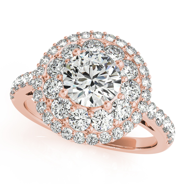 14k Rose Gold Round Halo Engagement Ring 50661 E 1 14kr Engagement Rings From Willis Fine Jewelry Rockwall Tx