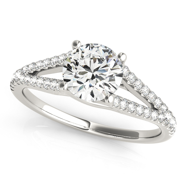 10K White Gold Multi-Row Engagement Ring by Overnight