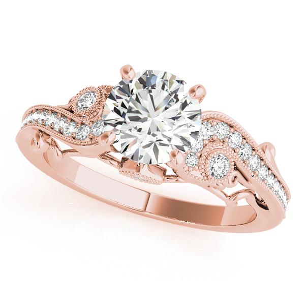 10k Rose Gold Antique Engagement Ring 84522 10kr Engagement Rings