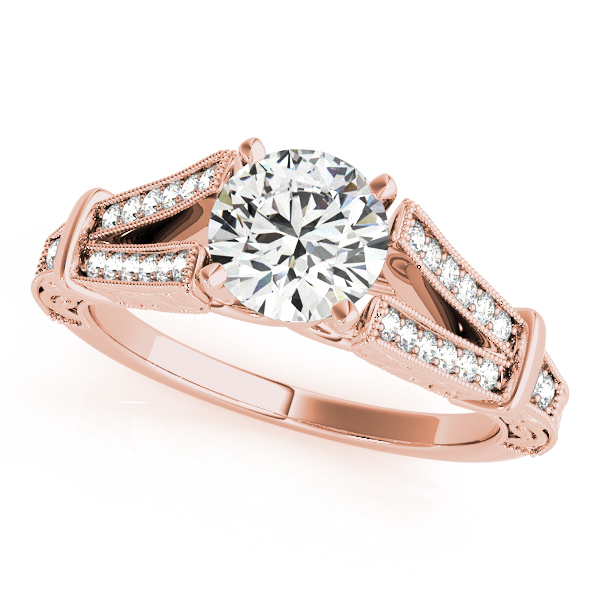 10K Rose Gold Multi-Row Engagement Ring by Overnight