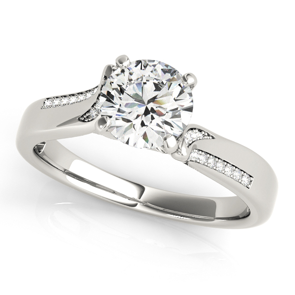 57c3bd825bfad Engagement Rings - 10K White Gold Engagement Ring