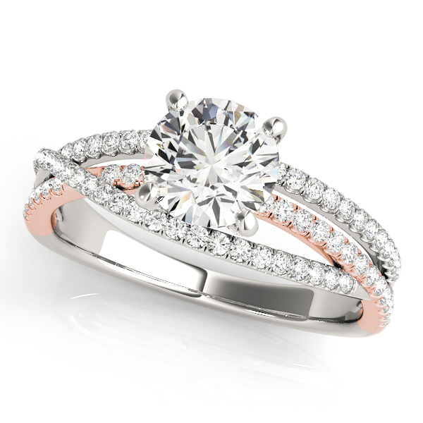 10K White Gold Engagement Ring by Overnight