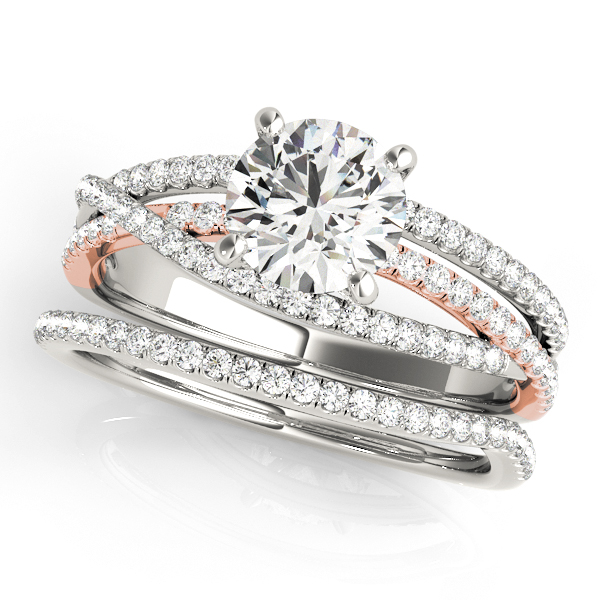 Engagement Rings - 10K White Gold Engagement Ring - image #3