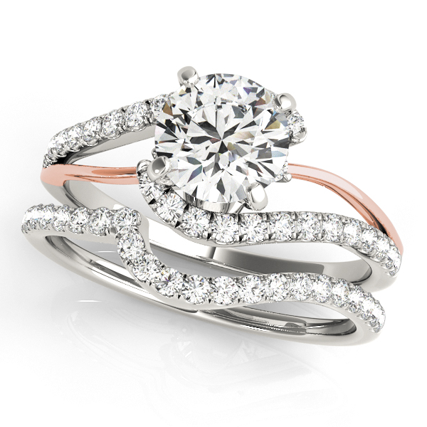 Engagement Rings - 10K White Gold Bypass-Style Engagement Ring - image #3