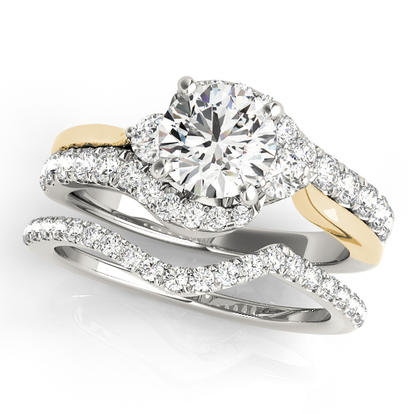 10k White Gold Bypass Style Engagement Ring 50914 E 10kw