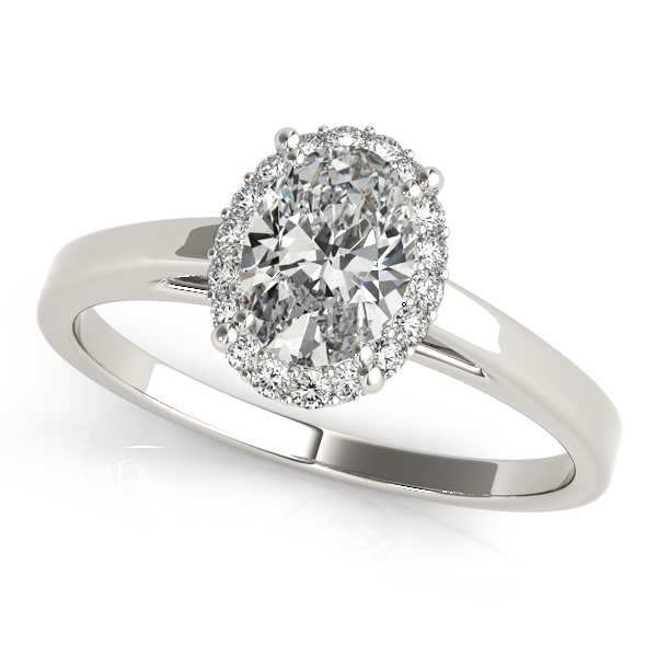 e2006f14e486 Engagement Rings - Platinum Oval Halo Engagement Ring ...