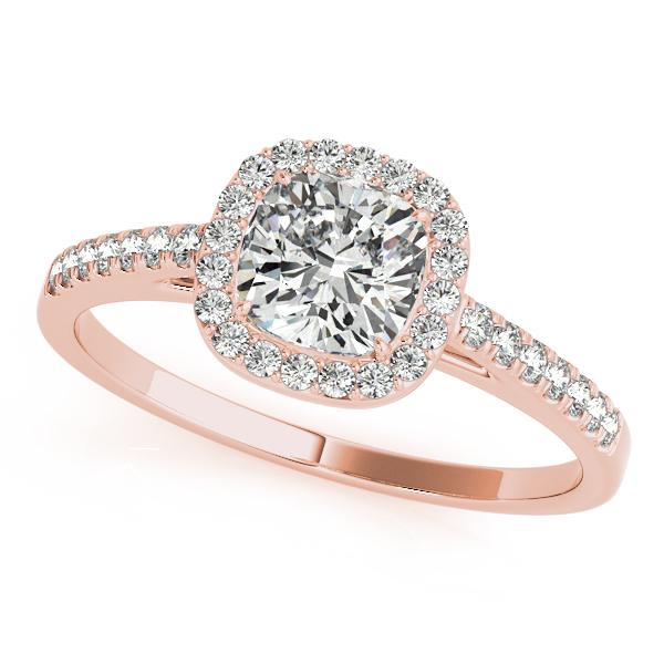 14k Rose Gold Halo Engagement Ring 50919 E 5 14kr Diamond