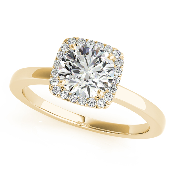 10k Yellow Gold Round Halo Engagement Ring 50924 E 11 4 10ky