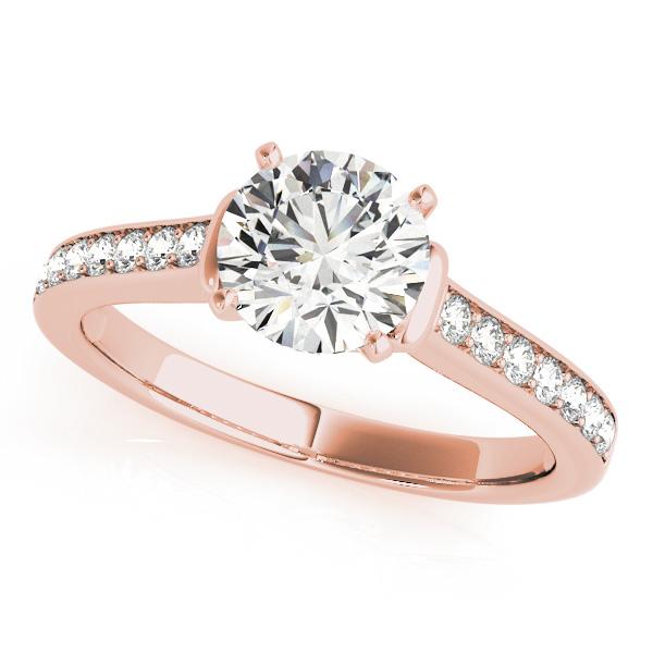 14k Rose Gold Engagement Ring 50936 E 14kr Diamond Engagement