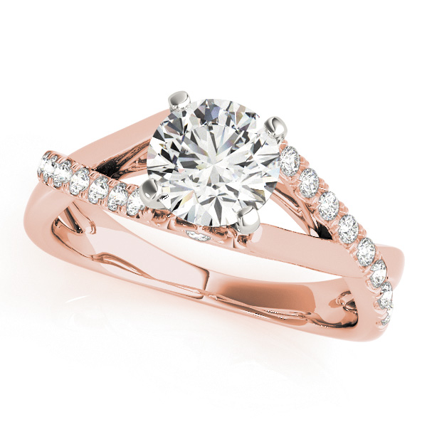 10K Rose Gold Engagement Ring by Overnight