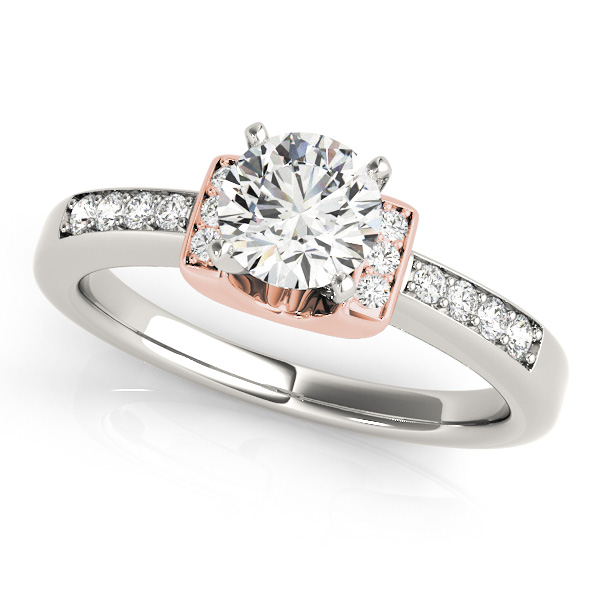 0a9dc9411 14K Rose Gold Engagement Ring 50946-E-14KR   Engagement Rings from ...