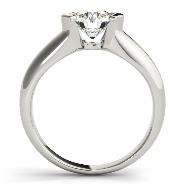 Diamond Engagement Rings - 14K White Gold Round Solitaire Engagement Ring - image #2