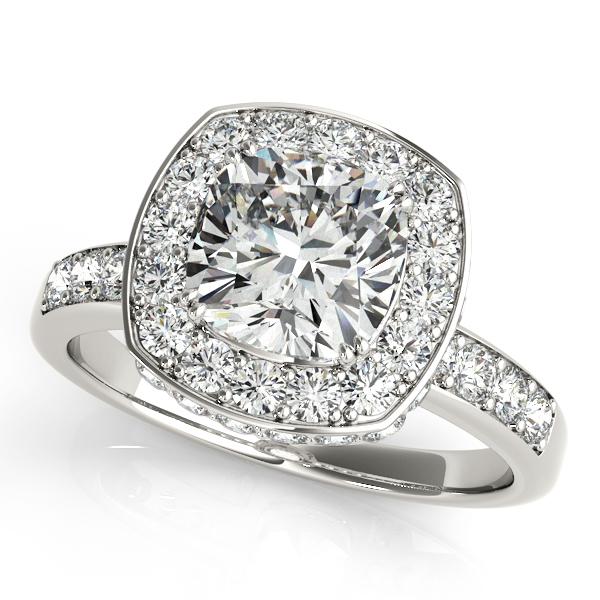 10k White Gold Halo Engagement Ring 83502 6 10kw Engagement Rings