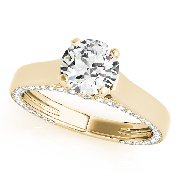 Engagement Rings - 18K Yellow Gold Engagement Ring Remount