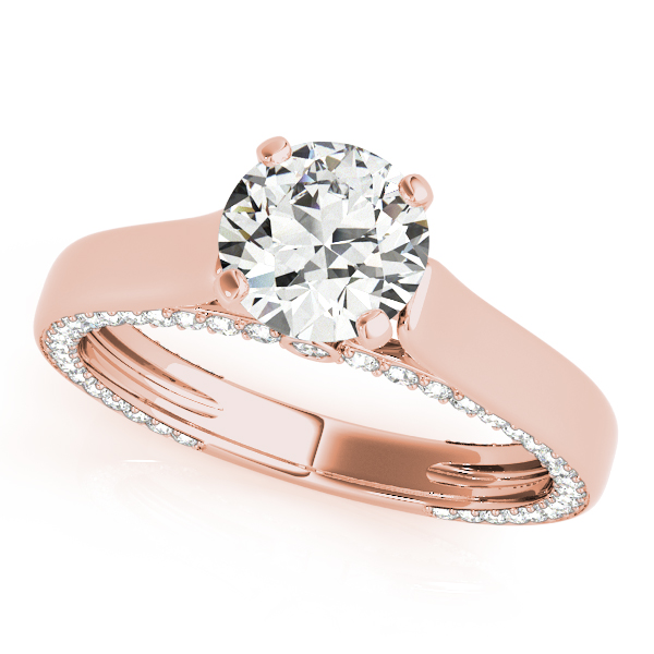 Engagement Rings - 14K Rose Gold Engagement Ring Remount