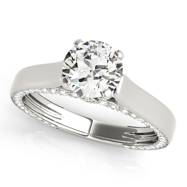 Engagement Rings - 18K White Gold Engagement Ring Remount