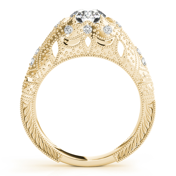Engagement Rings - 18K Yellow Gold Antique Engagement Ring - image #2