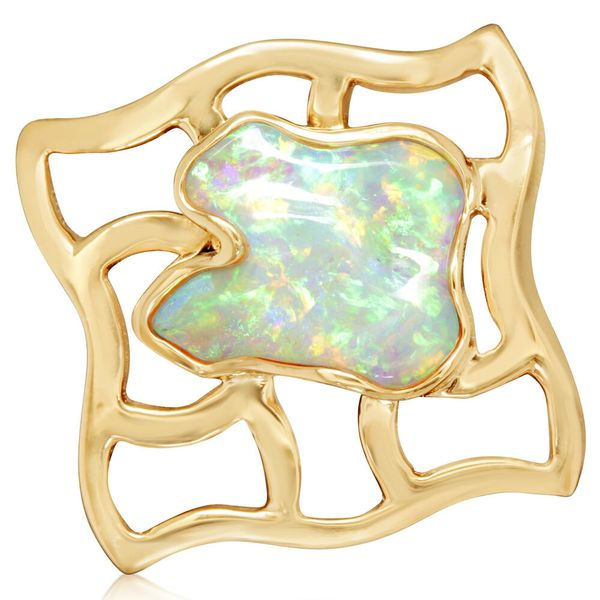 Yellow Gold Natural Opal Pin by Parle
