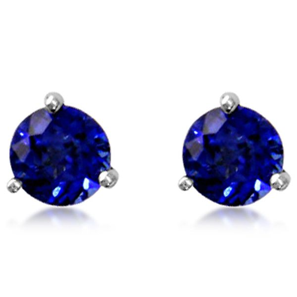 White Gold Sapphire Earrings by Parle