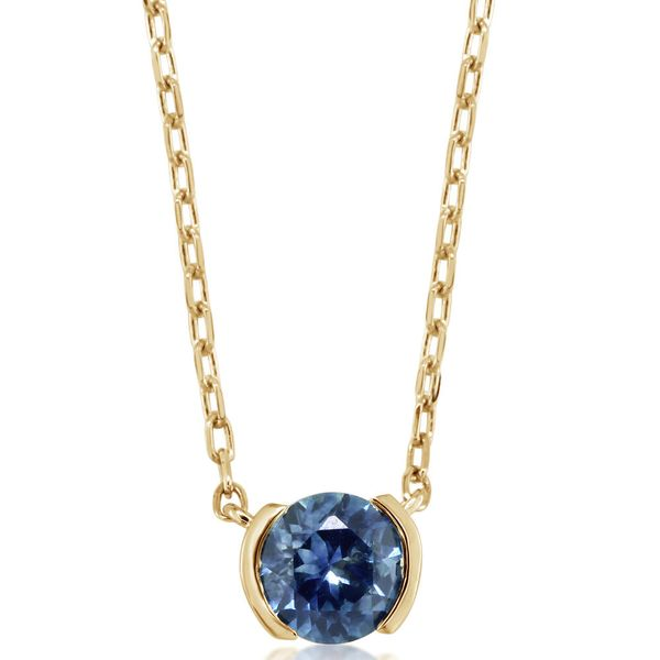 Yellow Gold Sapphire Necklace by Parle