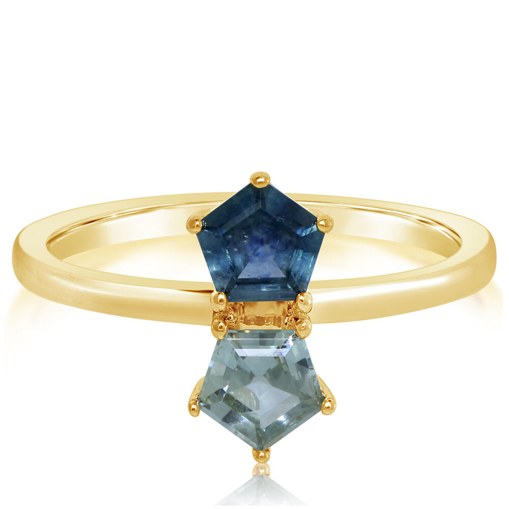 Yellow Gold Sapphire Ring by Parle