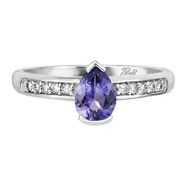 White Gold Tanzanite Ring by Parle