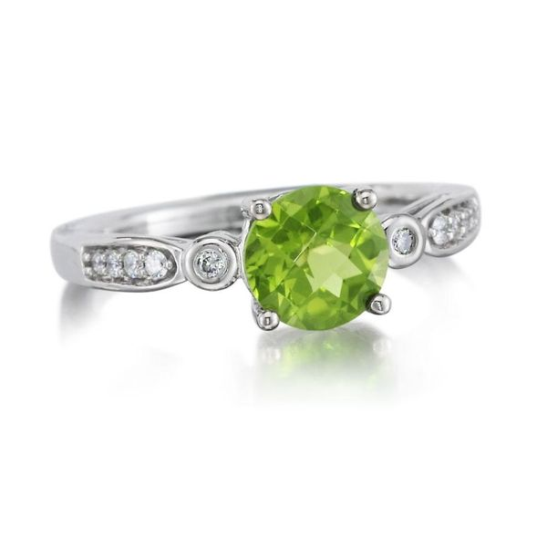 White Gold Peridot Ring by Parle