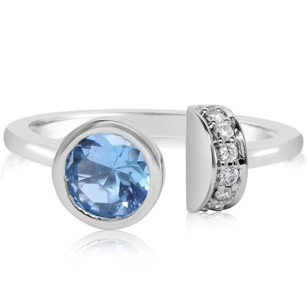 White Gold Topaz Ring by Parle