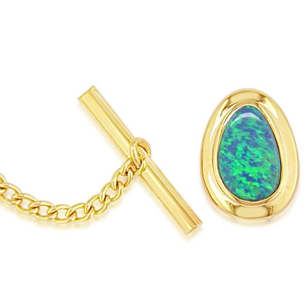 Popular Items - Yellow Gold Opal Doublet Tie Tack