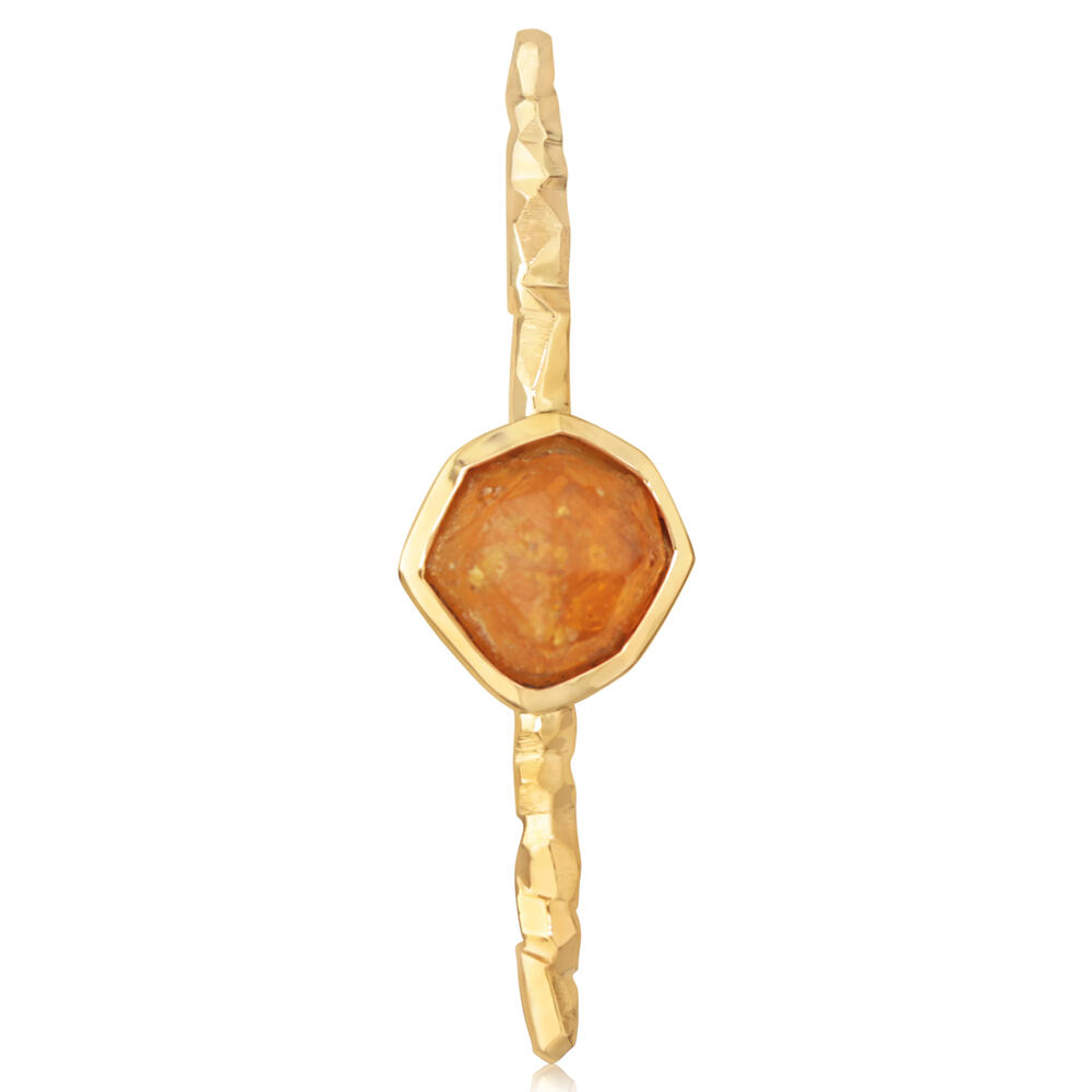 Pins - Yellow Gold Mandarin Garnet Spessartite Pin