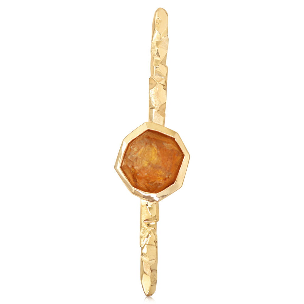 Pins - Yellow Gold Mandarin Garnet Spessartite Pin - image #3