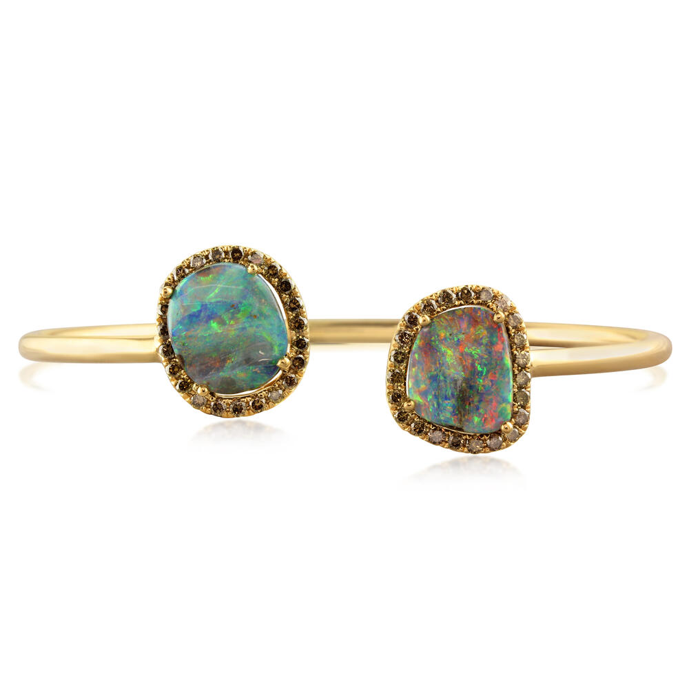 Yellow Gold Boulder Opal Bracelet by Parle