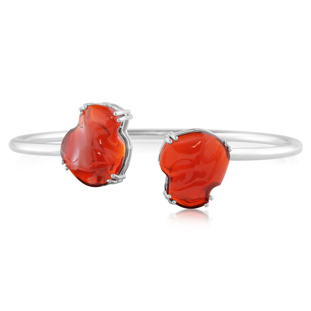 White Gold Fire Opal Bracelet by Parle