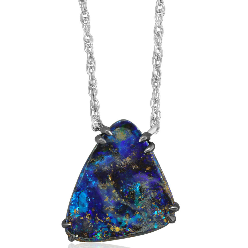 Necklaces - Sterling Silver Boulder Opal Necklace