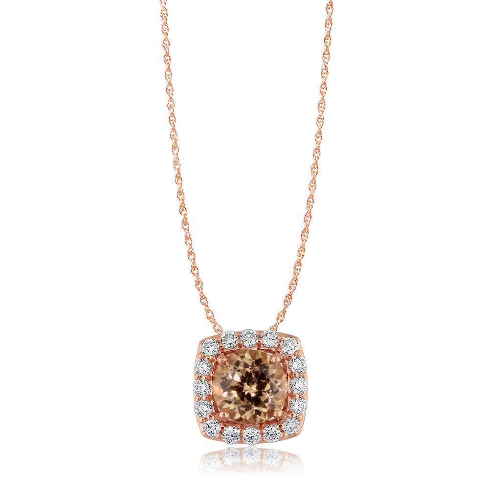 14k rose gold lotus garnetdiamond pendant pcc175lg1ri gemstone 14k rose gold lotus garnetdiamond pendant mozeypictures Image collections